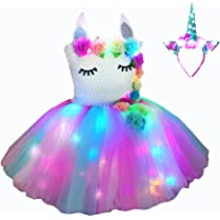 bDDeDD Girls Unicorn Costume Pageant Princess Party Dress Birthday Outfit Photography Dress