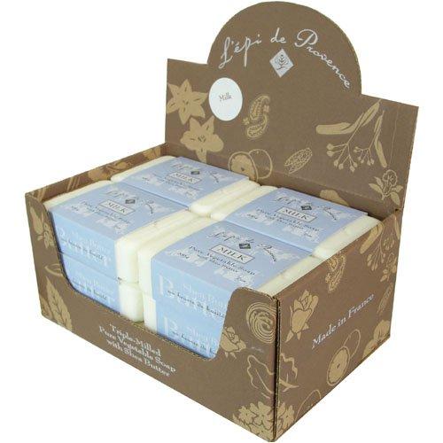 Economy 12 Piece Case L'Epi de Provence Vegetable Soap Shea Butter 200 Gram, Milk