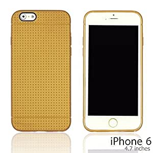 OnlineBestDigital - Colorful Hard Back Case for Apple iPhone 6 (4.7 inch)Smartphone - Gold with 3 Screen Protectors