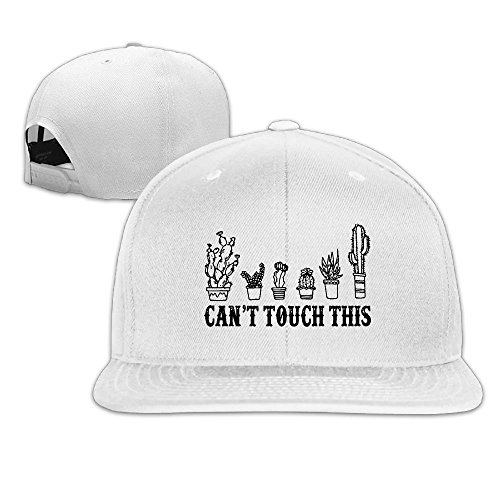 Can't Touch This Funny Cactus Flat Brim Baseball Hat