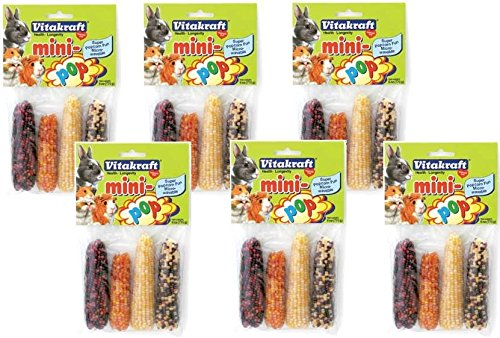 (6 Pack) Vitakraft Mini-Pop Small Animal Indian Corn Treats
