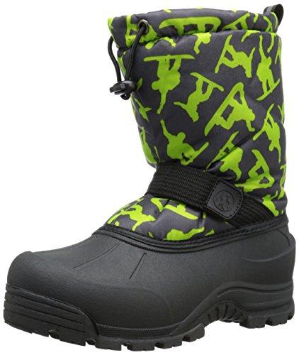 Price comparison product image Northside Frosty Winter Boot (Toddler/Little Kid/Big Kid),Dark Grey/Green,6 M US Big Kid