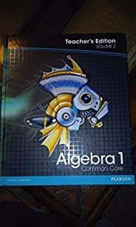 Amazon pearson algebra 1 common core vol 1 teachers pearson algebra 1 common core vol 2 teachers edition fandeluxe Image collections