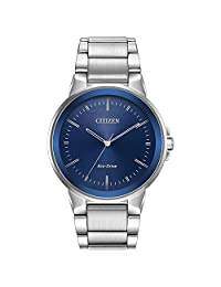 Men's Citizen Eco-Drive Axiom Stainless Steel Watch BJ6510-51L
