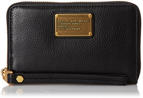 Marc by Marc Jacobs Classic Q Wingman Wallet, Black, One - Jacobs Wallet Clutch Marc