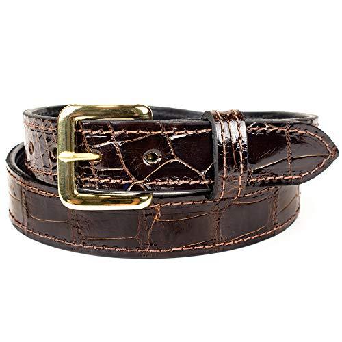Alligator Belt - Genuine Alligator Leather Belt - 1.25