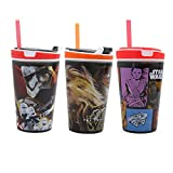(3 Pack) Snackeez Star Wars 7 Movie Edition Jr Sippy Cup