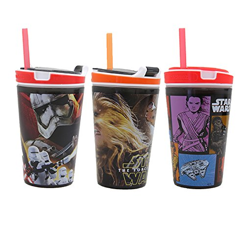 (3 Pack) Snackeez Star Wars 7 Movie Edition Jr Sippy Cup by Snackeez