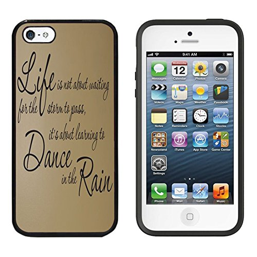 iPhone SE Case, DOO UC (TM) Ultra Protective Cases For Apple iPhone SE (2016) & iPhone 5S 5 Black Case - Inspirational life Quote Life...Dance... Rain...