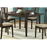 Monarch Specialties Dining Table with 12-Inch Butterfly Leaf, 36-Inch by 60-Inch, Cappuccino