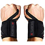 NATARIFITNESS..COM  51yHE0MwKML._SS150_ Hustle Athletics Wrist Wraps Weightlifting - Best Support for Gym & Crossfit - Brace Your Wrists to Push Heavier, Avoid…
