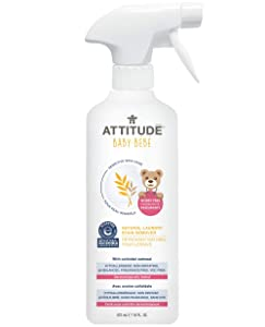 ATTITUDE Sensitive Skin, Hypoallergenic Baby Laundry Stain Remover, Fragrance Free, 16 Fluid Ounce