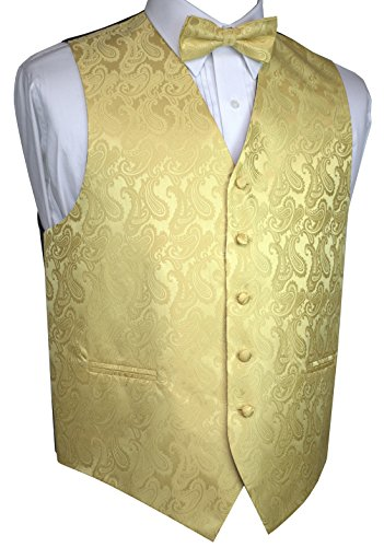 MEN/'S SERENE PAISLEY TUXEDO VEST DRESS TIE /& HANKIE SET WEDDING PROM FORMAL