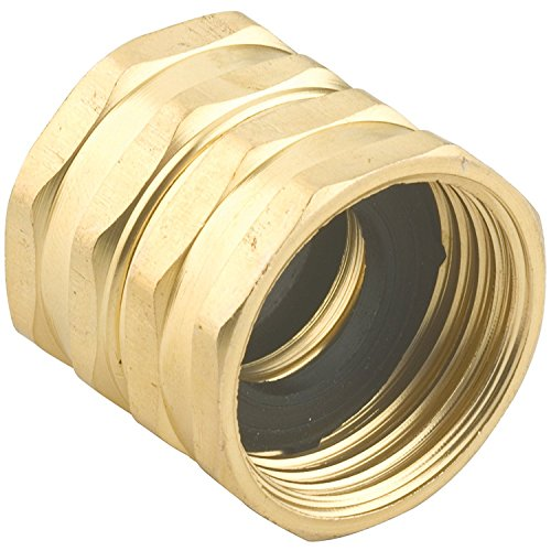 2 Pack - Gilmour 7FHS7FH Brass Water Hose Connector | Double Female Thread with Swivel | 3/4 Inch x 3/4 Inch Garden Hose Adapter Double Male Hose