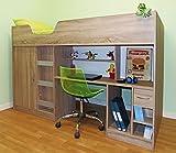 Mrsflatpack Lifestyle High Sleeper Bed - M1400 (Oak)