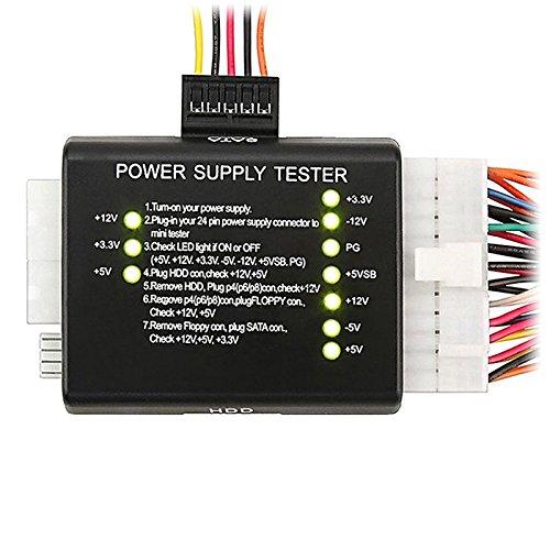 HDE PC Power Supply Tester 20/24 Pin PSU ATX SATA HD