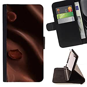 - Brown Silk Chocolate Imitation - Estilo PU billetera de cuero del soporte del tir???¡¯????n [solapa de cierre] Cubierta- For Samsung Galaxy Note 3 III £¨ Devil Case £©