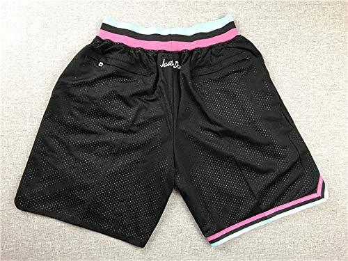 para Pantalones Cortos de Entrenamiento con Bolsillo con Cremallera Suelta y Secado r/ápido Bordados Miami Heate DFGH Pantalones Cortos de Baloncesto Deportivo para Hombre