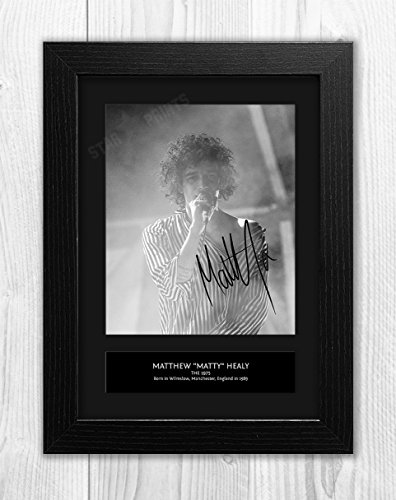 (The 1975 - Matthew Healy 3 MT - Signed Autograph Reproduction Photo A4 Print(Black)
