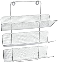 Design Ideas Wall Works Magazine Rack, Small, Silver