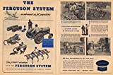 1945 Ford Ferguson Tractor Advanced Farming System Double Page Original Vintage Advertisement with Pictures