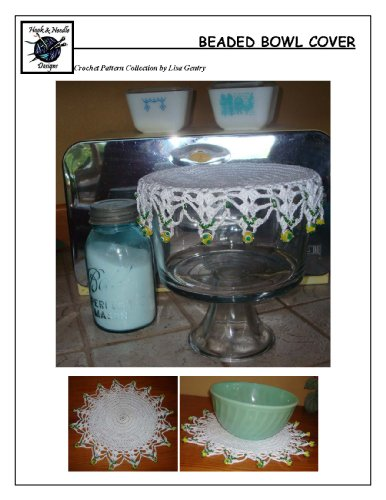 Crochet Pattern for Beaded Bowl Cover, Doily (Beaded Doily)