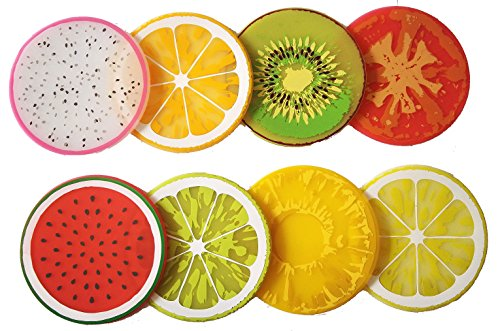 PHT Silicone Fruit Slice All-weather Drink Coasters 2015 edition, 3.5