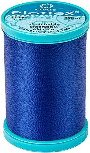 (Coats Eloflex Stretch Thread 225yd-yale Blue)
