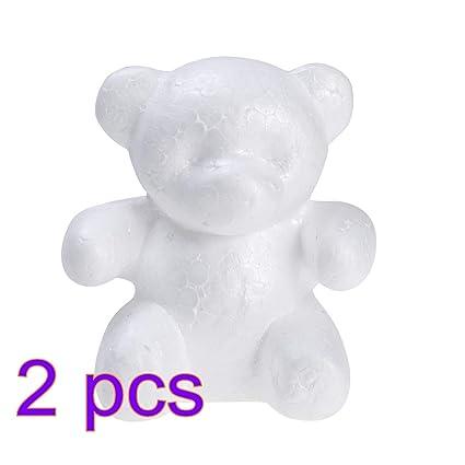 Amosfun Modelado de Poliestireno Espuma de Poliestireno Forma de Oso Molde Manualidades para San Valentín Arreglo