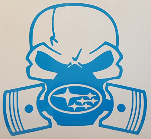 32 & Willys Subaru Skull Gas Mask PREMIUM Decal 5