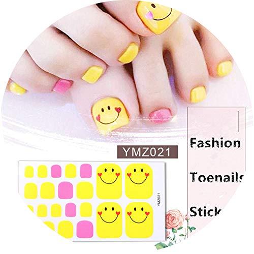 22tips/sheet Toenail Sticker Full Cover Waterproof Non-toxic Sticker Foot Toenail Tablets DIY Nail Art Tool Accessories -