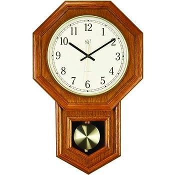 Amazon Com River City Clocks Radio Controlled Schoolhouse