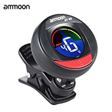ammoon AT-05 Rotatable Digital Electronic Clip-On Tuner LCD Color Screen for Guitar Bass Chromatic Violin Ukulele