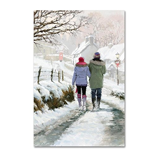Couple in Snow by The Macneil Studio, 22x32-Inch Canvas Wall Art