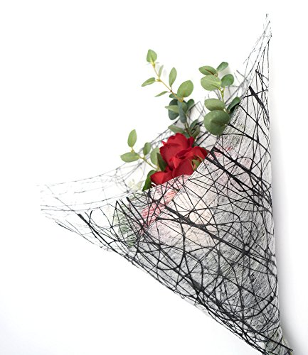 Premium Florist & Craft Deco Mesh Roll Rose Linen Paper Cotton Ribbon Wrapping by BOZA (Image #1)