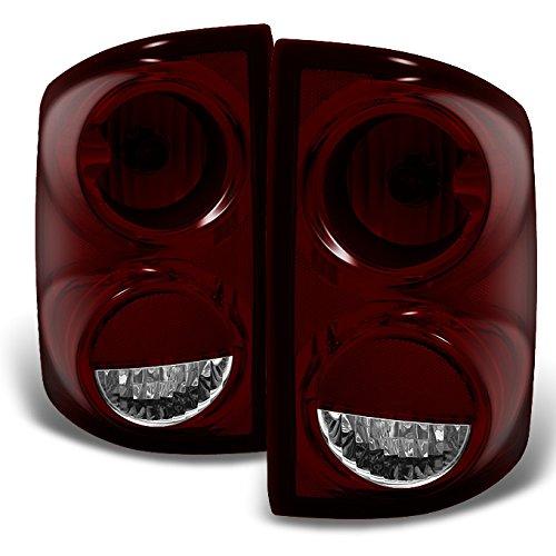 dodge-dakota-dark-red-rear-tail-lights-brake-lamps-driver-left-passenger-right-replacement-pair