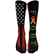 Fight Leukemia Cancer Awareness Casual Unisex Sock Knee Long High Socks Sport Athletic Crew Socks One Size