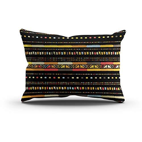 Sgvsdg Throw Pillow Cover Handmade Colored Stripes Bright Tribal Seamless Rectangle Hidden Zipper Home Sofa Living Room Cushion Decorative Pillowcase 20 x 26 Inch