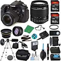 Canon EOS 70D Camera + 18-55mm STM + 2pcs ZeeTech 16GB Memory + Case + Reader + Tripod + Starter Set + Wide Angle + Telephoto + Flash + Battery + Charger + Filter - International Version