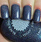 Indigo Proteas | Indigo Navy Nail Polish with Micro Glitter and Shimmer | by Black Dahlia Lacquer
