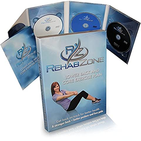 RehabZone Lower Back and Core Exercise Plan: Physician endorsed low back pain home exercise (At Home Workout Dvd)