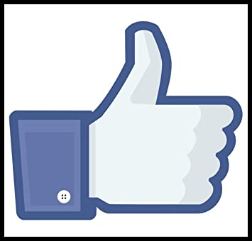 New Color Paper Sticker Facebook Thumb Thumbs Up Like Internet Fun:  Amazon.co.uk: Office Products