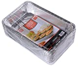 Daxwell Disposable Aluminum Steam Table Pan, Deep, Full Size (Pack of 25)