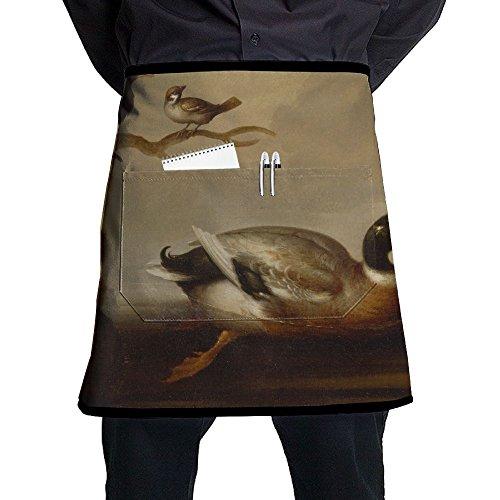 - Mallard Duck And Other Birds Art Unisex Fashion Pocket Waist Apron Restaurant Waitress Waiter Half Bistro Aprons