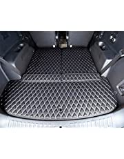 Momoap / Car Full encirclement Leather Boot Cargo Liner Tray Rear Trunk Floor Mat for Hyundai Santa Fe 2019-2023 Only Suitable for Electric Tailgate