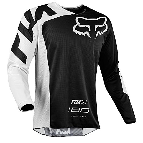 Fox Racing 180 Race Youth Boys Kids Off-Road Jersey - Black Medium ()