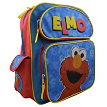 "Sesame Street Toddler Elmo 14"" Deluxe Backpack with Multiple Pockets"