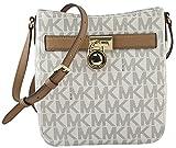 MICHAEL Michael Kors Women's Vanilla Acorn Signature PVC Hamilton Large Crossbody Bag, Style 35H6GHXC3B
