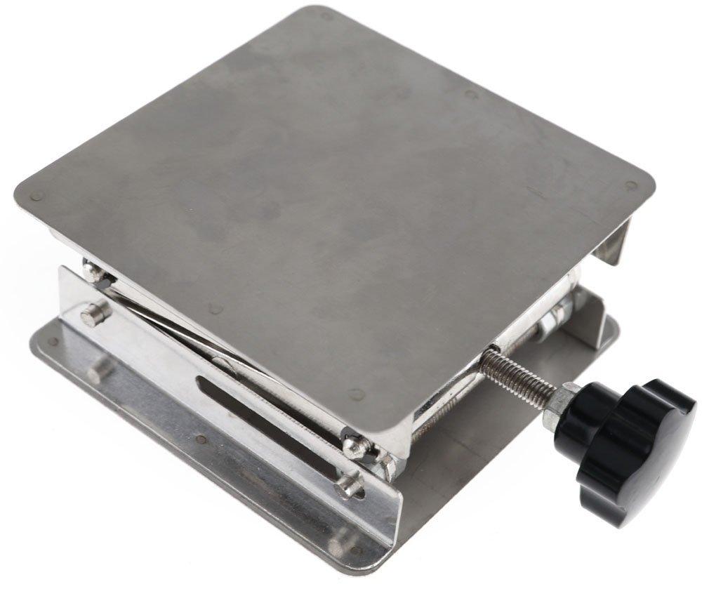 BIPEE Scientific Stainless Steel Lab Jack Stand Table Scissor Lift Platform (11.8x 11.8'')
