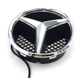 mercedes benz c230 emblem - Azisen Car Front Grille Star Emblem LED Logo for Mercedes Benz 2006-2013 Illuminated LED Badge Light White